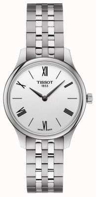 Tissot | vrouwentraditie | roestvrijstalen armband | zilveren wijzerplaat T0632091103800