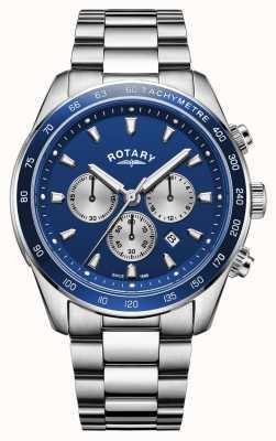 Rotary | heren henley | blauwe chronograaf wijzerplaat | roestvrij staal | GB05109/05