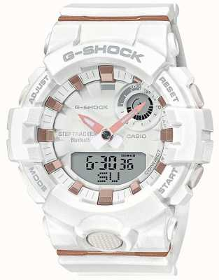 Casio | g-shock g-ploeg | witte rubberen band | bluetooth slim | GMA-B800-7AER
