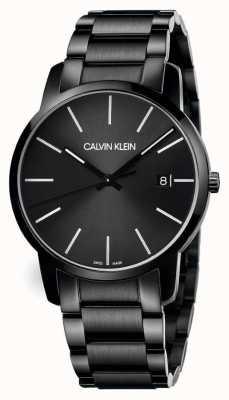 Calvin Klein | mannenstad | zwarte roestvrijstalen armband | zwarte wijzerplaat | K2G2G4B1