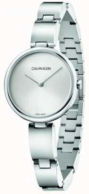 Calvin Klein | roestvrij stalen armband voor dames | zilveren wijzerplaat | K9U23146