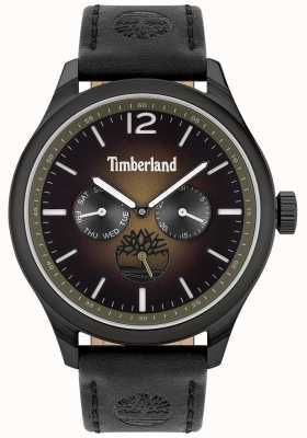 Timberland City lifestyler | zwarte lederen band | zwarte wijzerplaat | 15940JSB/19