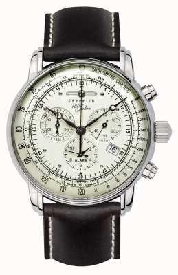 Zeppelin 100 jaar | Zwitserse kwarts | chronograaf horloge 8680-3