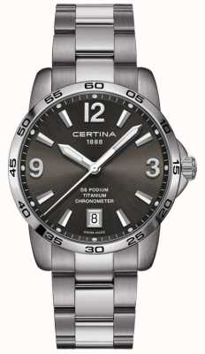 Certina | ds podium | 40 mm | titanium horloge C0344514408700
