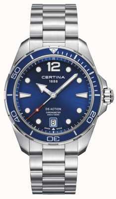 Certina | ds actie | chronometer | blauwe wijzerplaat C0324511104700