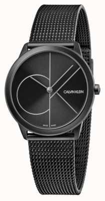 Calvin Klein Unisex | minimaal | zwart pvd gaas | zwarte wijzerplaat K3M5245X