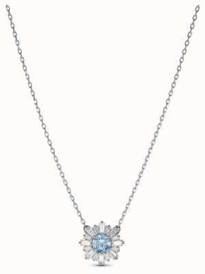 Swarovski | zonneschijn | gerhodineerd | blauw kristal | hanger | 5536742