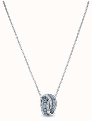Swarovski | verder | gerhodineerd | blauw kristal | hanger | 5537106