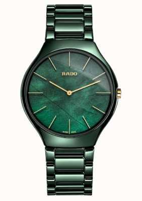 RADO Dames | true thinline | groen keramiek R27006912