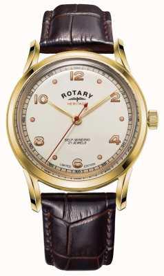Rotary Heren | beperkte oplage | erfgoed | bruine lederen band GS05143/03