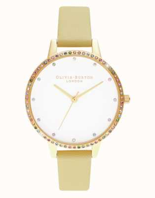 Olivia Burton | dames | regenboog bezel | armband met zonneschijn en goud | OB16RB20