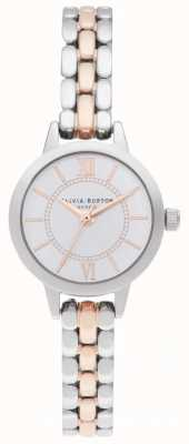 Olivia Burton | wonderland zilver en rose goud | tweekleurige armband OB16MC50