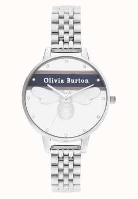 Olivia Burton | dames | varsity geluksbij | zilveren armband | OB16VS07
