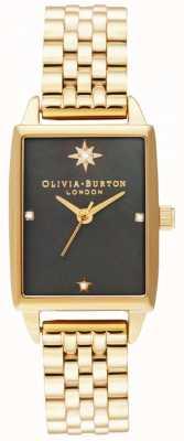 Olivia Burton | hemelse faux | zwarte parelmoer wijzerplaat | gouden armband OB16GD60