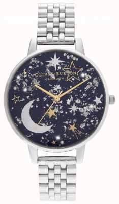 Olivia Burton Navy sunray, gouden en zilveren armband OB16GD64