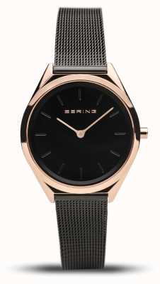 Bering | unisex | ultraslank | zwarte mesh armband | 17031-166