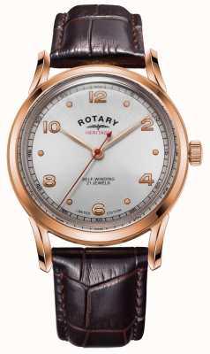 Rotary Erfgoed in beperkte oplage heren rosé gouden kast | GS05144/70