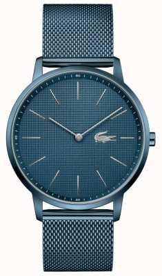Lacoste Heren maan | blauwe pvd mesh armband | blauwe wijzerplaat 2011057