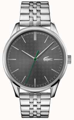 Lacoste Wenen voor heren | roestvrijstalen armband | grijze wijzerplaat 2011073