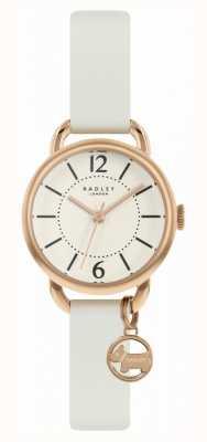 Radley | witte lederen band voor dames | champagne wijzerplaat | RY2984