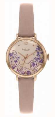 Radley | lederen damesriem naakt wijzerplaat met bloemenprint | RY2980