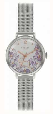 Radley | stalen armband voor dames | bloemenprint wijzerplaat RY4523