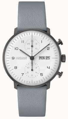 Junghans Max bill chronoscoop | 40 mm zwart-wit 027/4008.05
