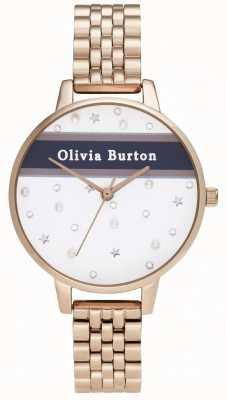 Olivia Burton Dames | demi | varsity | rose goud pvd OB16VS06