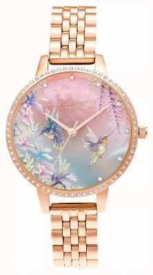 Olivia Burton Sparkle kolibrie roségouden armband OB16PP60
