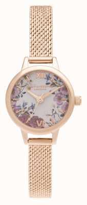 Olivia Burton Mini bloemen mini wijzerplaat roségouden armband OB16EG156