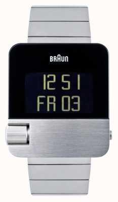 Braun Heren   prestige   digitaal   roestvrij stalen armband BN0106SLBTG