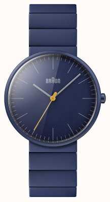 Braun Heren | klassiek | blauwe keramische armband | blauwe wijzerplaat BN0171NVNVG