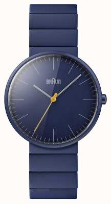 Braun Heren | klassiek | blauwe keramiek armband | blauwe wijzerplaat BN0171NVNVG