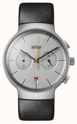 Braun Heren | klassiek | chronograaf | zwart leer BN0265SLBKG