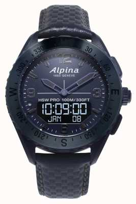 Alpinarx | ruimte editie | smartwatch | blauwe lederen band AL-283SEN5NAQ6