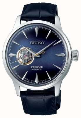 Seiko Presage heren mechanisch | blauw kalfsleer | SSA405J1