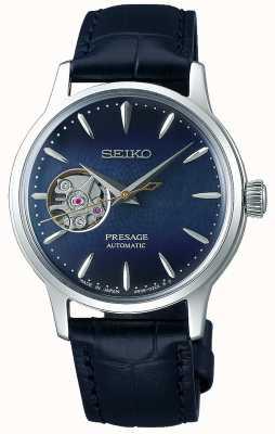 Seiko | presage dames mechanisch | blauw kalfsleer | blauwe wijzerplaat SSA785J1