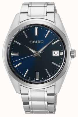 Seiko | conceptuele heren quartz | roestvrij staal | blauwe wijzerplaat | SUR309P1