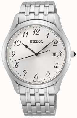 Seiko Conceptuele heren quartz | roestvrij staal | zilveren wijzerplaat SUR299P1