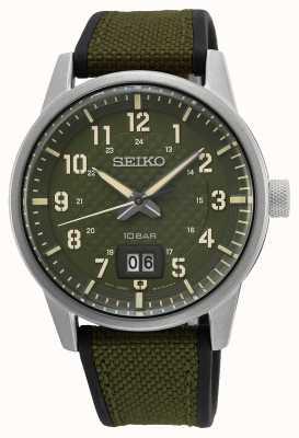Seiko Conceptueel heren quartz kaki groen SUR323P1