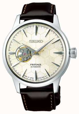 Seiko | mechanische heren limited edition bruin kalfsleer SSA409J1
