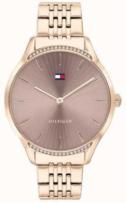 Tommy Hilfiger | dames grijs | roségouden ion-plated armband | grijze wijzerplaat 1782212