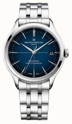Baume & Mercier | clifton baumatic | roestvrijstalen armband | blauwe wijzerplaat | M0A10468