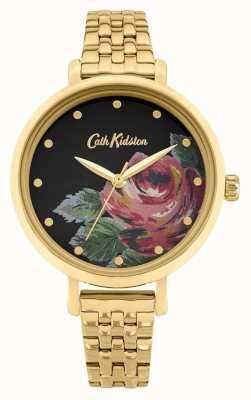 Cath Kidston | dames oxford | vergulde stalen armband | bloemen wijzerplaat CKL087GM