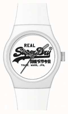 """Superdry Witte siliconen band 