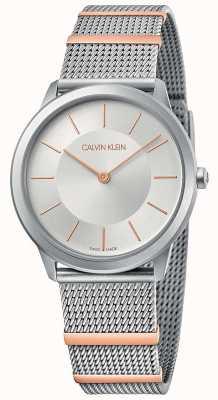 Calvin Klein | minimaal | stalen gaas armband | zilveren wijzerplaat | 35mm K3M521Y6