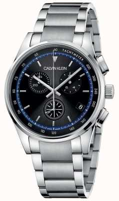 Calvin Klein | voltooiing | roestvrij stalen armband | zwarte wijzerplaat | KAM27141