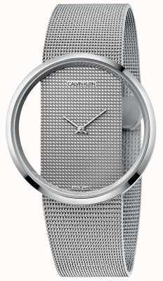 Calvin Klein | glam | zilveren stalen armband | zilveren wijzerplaat | K9423T27