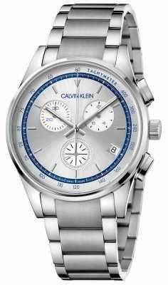 Calvin Klein voltooiing | roestvrijstalen armband | zilver / blauwe wijzerplaat | KAM27146
