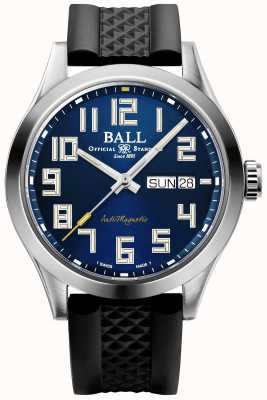 Ball Watch Company Ingenieur iii starlight | zwarte rubberen band | blauwe wijzerplaat | NM2182C-P12-BE1